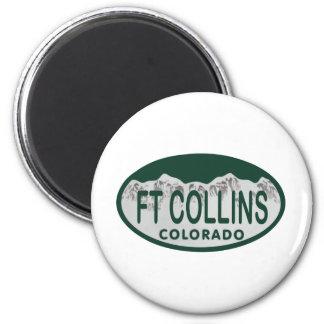 Ft Collins license oval Magnet