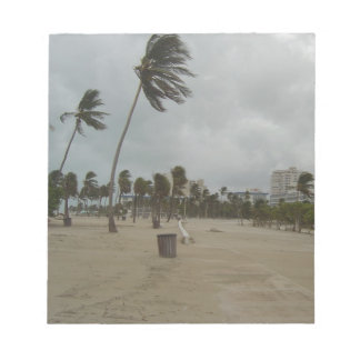 Ft Lauderdale Beach High Winds Notepad