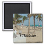 Ft Lauderdale Beach Square Magnet