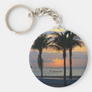 Ft. Lauderdale Sunrise Basic Round Button Keychain