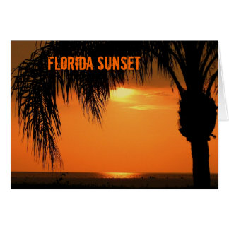 Ft. Myers Sunset Card