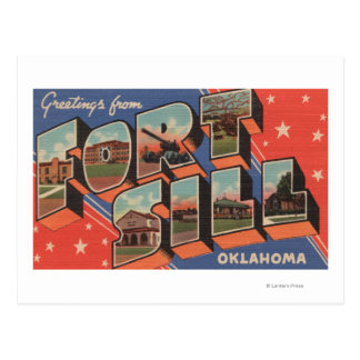 Ft. Sill, Oklahoma - Large Letter Scenes Postcard
