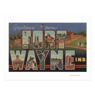 Ft. Wayne, Indiana - Large Letter Scenes 3 Postcard
