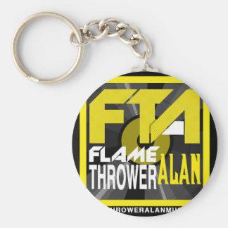 FTA Flame Thrower Alan Music Apparel & Merchandise Keychain