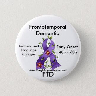 FTD, Frontotemporal Dementia Purple Ribbon Pin