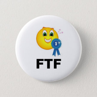 FTF First to Find Ribbon Geocaching Swag 2 Inch Round Button