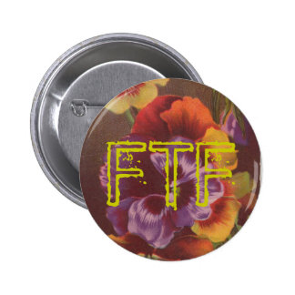 FTF Pansy Swag For Your Geocache 2 Inch Round Button
