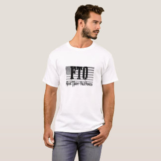 FTO Patriotic T with quote on back T-Shirt