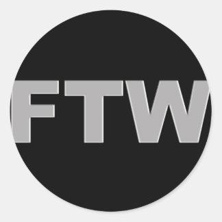 FTW CLASSIC ROUND STICKER