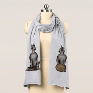 Fu Dog Bull Terrier Scarf