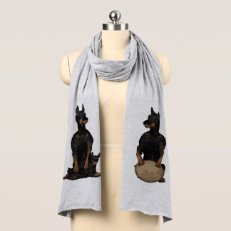 Fu Dog Doberman Pinscher Scarf