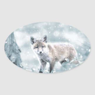 fuchs oval sticker