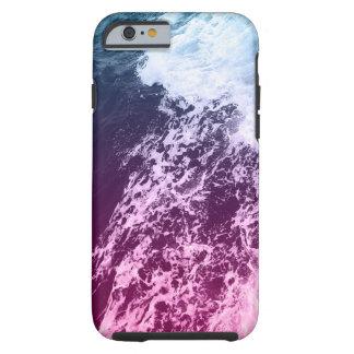 Fuchsia and Blue Ocean Water Tough iPhone 6 Case