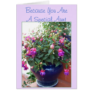 Fuchsia Aunt Birthday Card