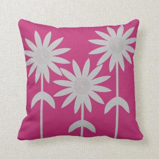 Fuchsia Berry Flower Pop Throw Pillow
