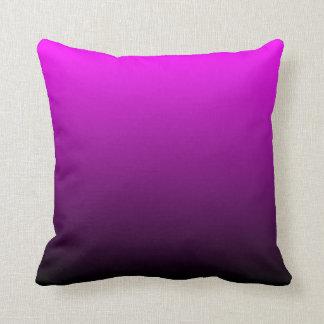 Fuchsia Black Ombre Throw Pillow