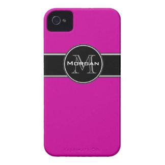 Fuchsia Black Personalized iPhone 4 Case-Mate