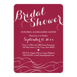 Fuchsia  Bridal Shower Invitation - Pink Invite