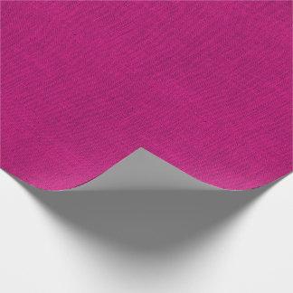 Fuchsia Burlap Texture Wrapping Paper