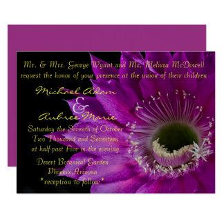 Fuchsia Cactus flower invite