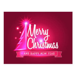 Fuchsia Christmas Postcard