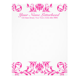 Fuchsia + Custom Color Letterhead Template