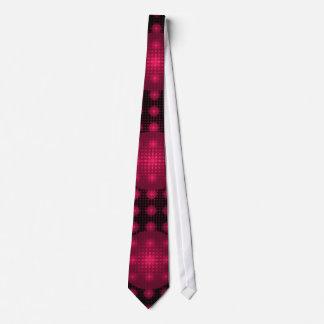 Fuchsia Disco Matrix Fractal Art Tie