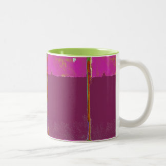 Fuchsia Expression Abstract Mug
