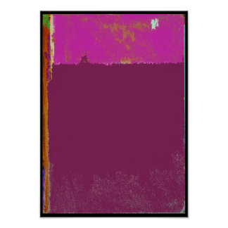 Fuchsia Expression Abstract Poster