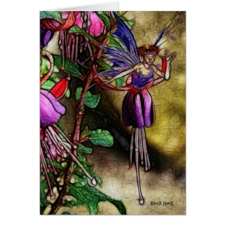 Fuchsia Fairy Card
