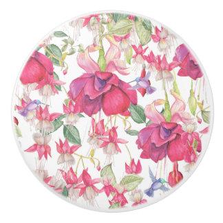 Fuchsia Fantasy Ceramic Knob