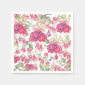 Fuchsia Fantasy Disposable Napkins