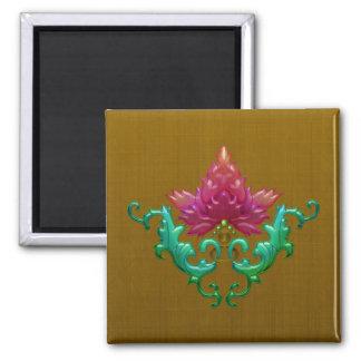 Fuchsia Fleur Magnet