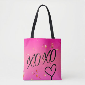 Fuchsia Floating Flower Petals Tote Bag