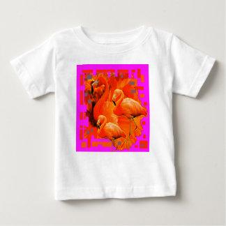 FUCHSIA FLORIDA TROPICAL FLAMINGO FAMILY BABY T-Shirt