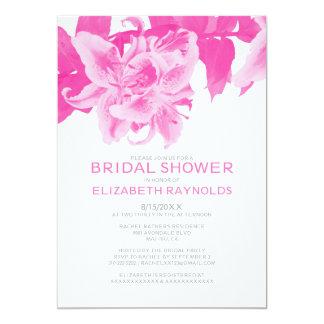 Fuchsia Flower Bridal Shower Invitations