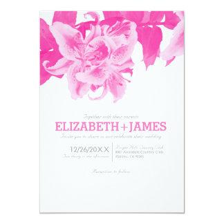 Fuchsia Flower Wedding Invitations