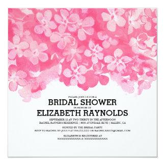 Fuchsia Flowers Bridal Shower Invitations