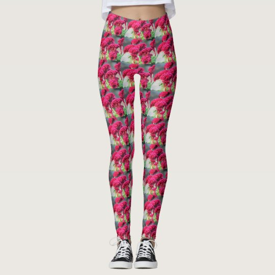 Fuchsia Flowers Leggings