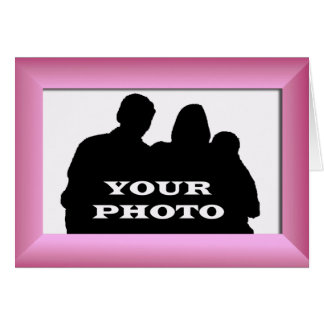 Fuchsia Frame Your Photo 5x7 Horizontal Greeting Card