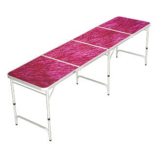 Fuchsia Fur Look Pong Table