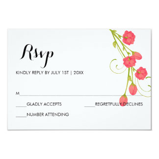 Fuchsia Garden Roses - RSVP Card
