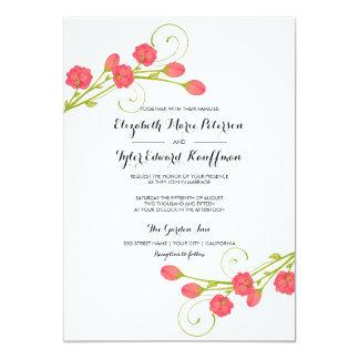 Fuchsia Garden Roses - wedding invitation