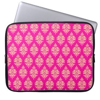 FUCHSIA GOLD DAMASK PATTERN,LAPTOP SLEEVE