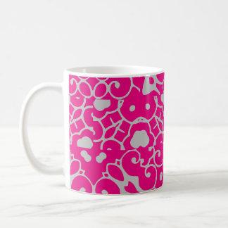Fuchsia Grey Abstract 4Laila Coffee Mug