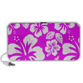 Fuchsia Hawaiian Tropical Hibiscus Travelling Speakers