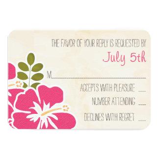 Wedding Gift Cards Canada : ... HIBISCUS HAWAIIAN WEDDING RESPONSE CARD 3.5