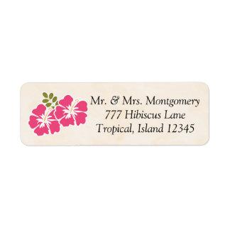 Fuchsia Hibiscus Tropical Themed Hawaiian