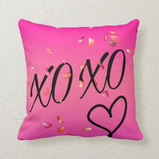 Fuchsia Hugs & Kisses Throw Pillow