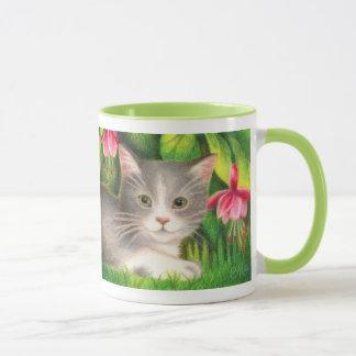 """""""Fuchsia Kitten"""" Mug"""